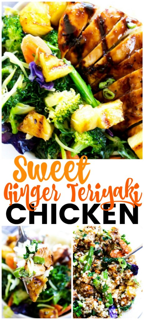 Sweet Ginger Teriyaki Chicken with pineapple and rice