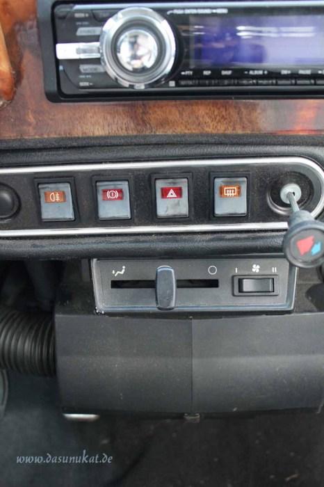 Rover Mini Xn - Schalterleiste und Heizung