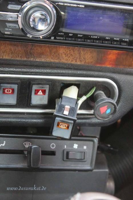 Rover Mini Xn - Schalter aus leiste gedrückt 1