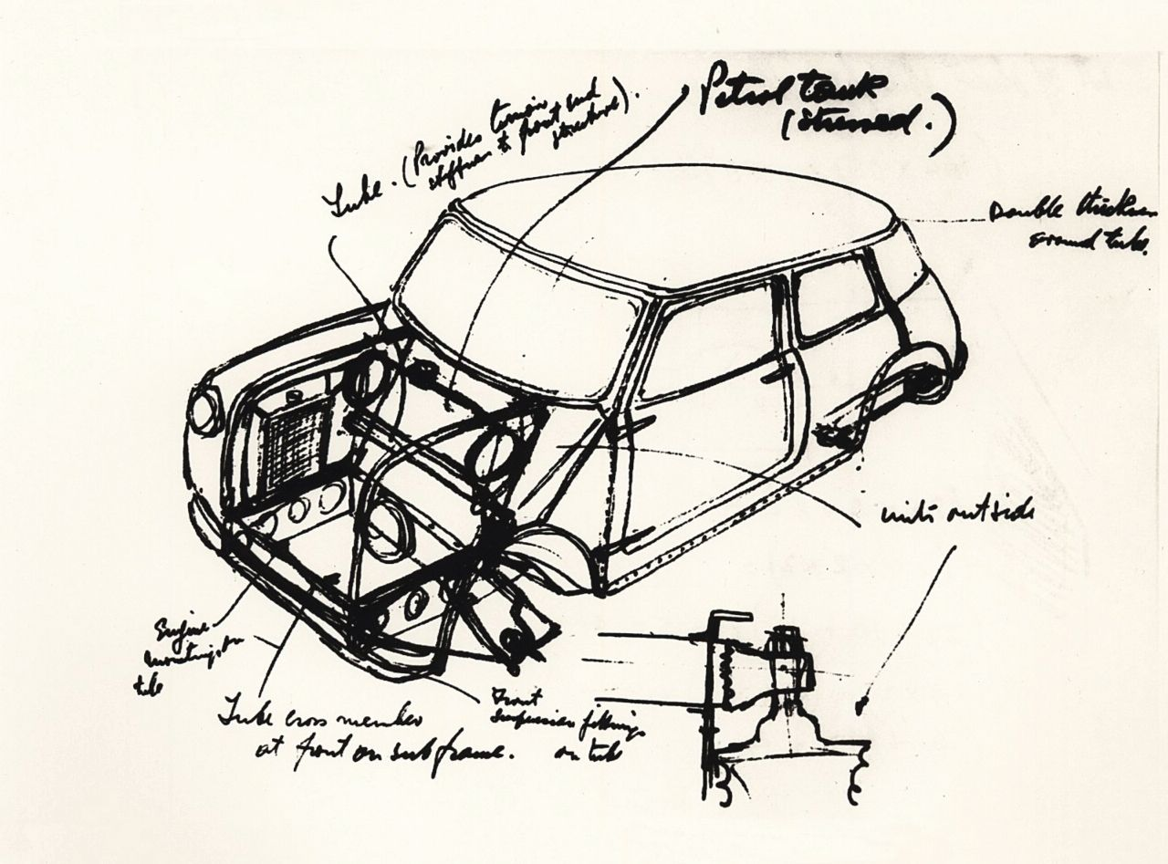 vielen Dank Sir Alec Issigonis - das ist Ihr Verdienst. - Rover Mini ...