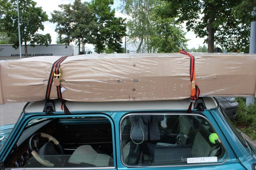 Mini-Matratzentransport verzurrt 2