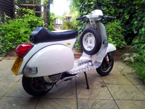 Lambretta spare wheel holder