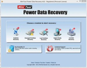 01 MiniTool Power Data Recovery Home Screen