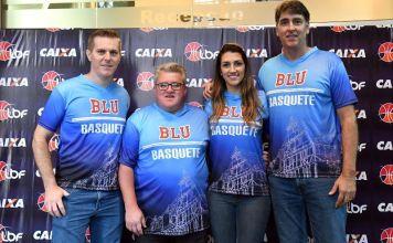 Representantes do Blumenau estiveram presentes no lançamento oficial da LBF CAIXA – 2018 / Foto: Divulgação