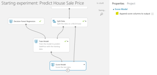 House Sale Price Prediction model with Azure Machine Learning Studio