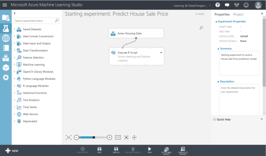 Starting experiment Azure machine learning studio