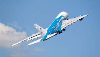 Airbus A380 en virage