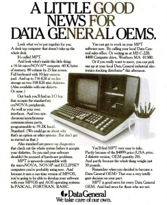 Data General MPT Desktop Restoration