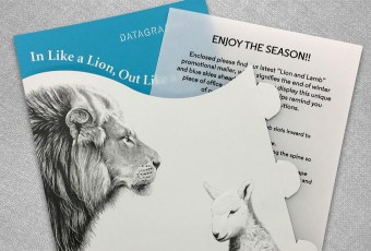 DataGraphic Lion and Lamb Direct Mail Campaign