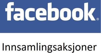 Facebook innsamlingsaksjoner