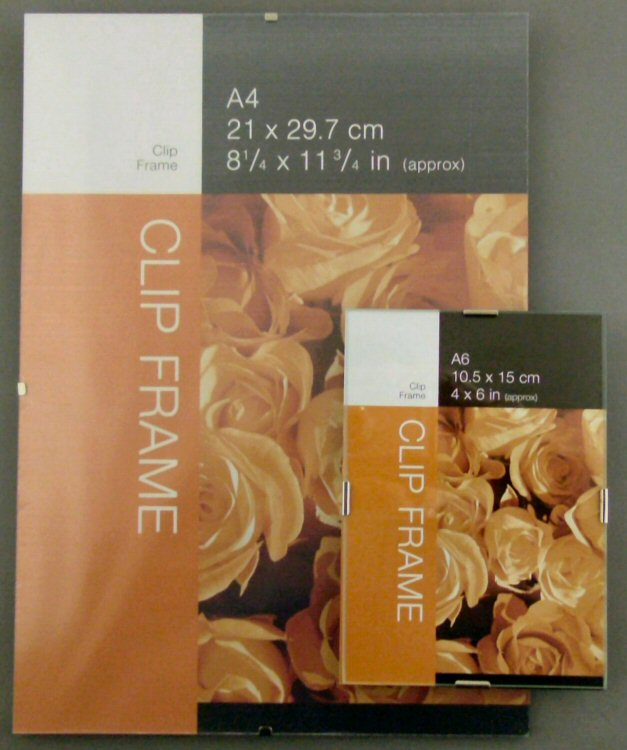 Glass Clip Picture Frames Uk | Frameswall.co