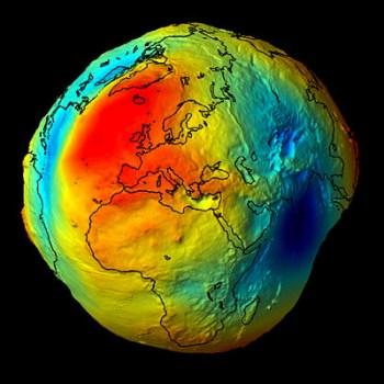 La mappa della gravità terrestre elaborata dal satellite Goce