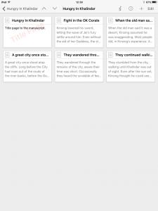 Scrivener iOS Notecards