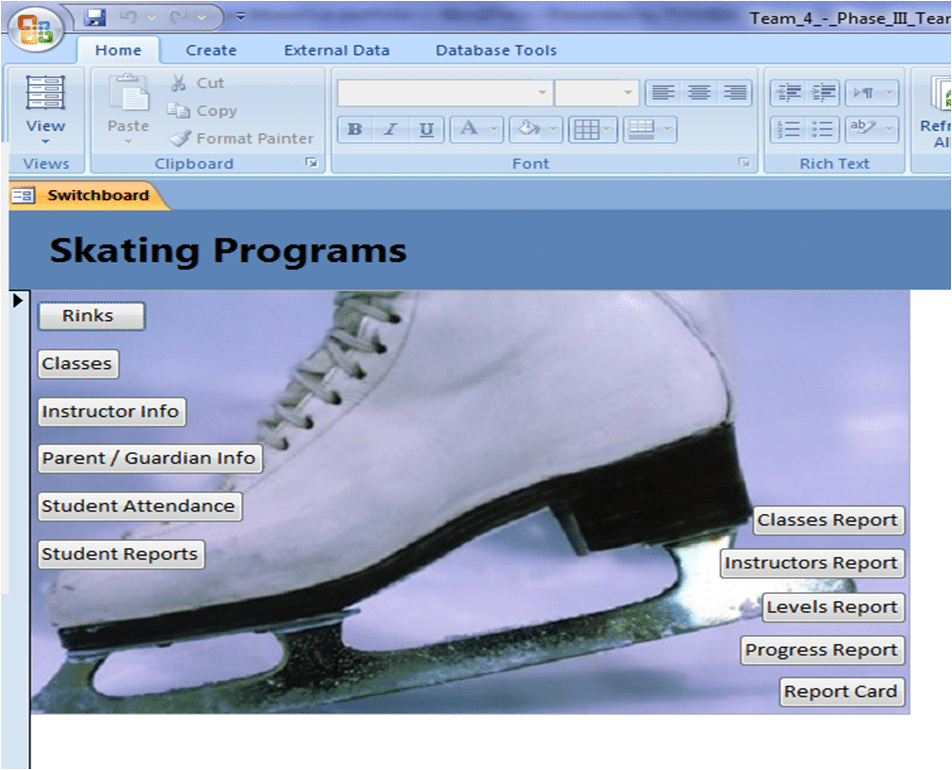 how to make switchboard in access 2007