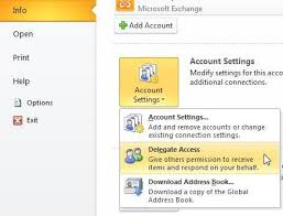 Giving Access to your Account to another User (Delegating Access)