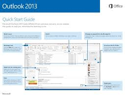 Quick guide to Outlook 2013 Interface