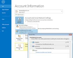 Social Accounts in Outlook 2013 - Keeping you always connected with your contacts