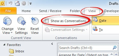 Enable Conversation View