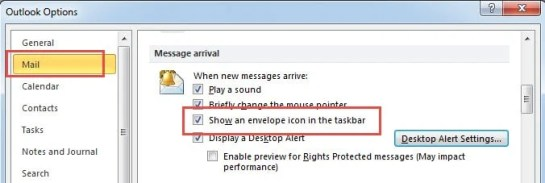 Disable New Message Envelope Icons