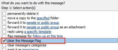 Clear the Message Flags