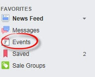 Click Events in Your Facebook Favorites