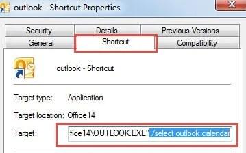 Shortcut Properties