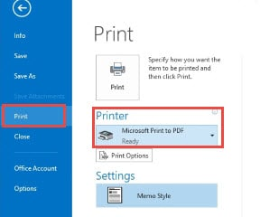 "Use ""Microsoft Print to PDF"" Feature in Windows 10"