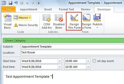 microsoft outlook calendar templates