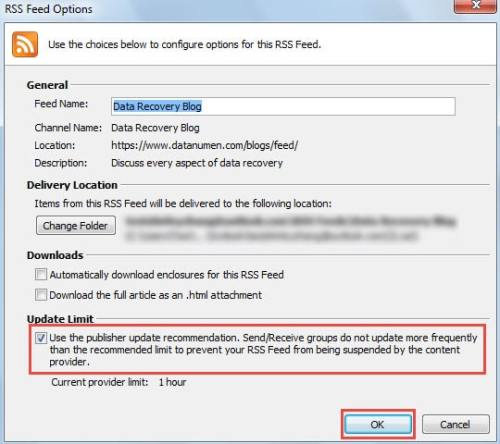2 Steps to Customize the Update Frequency of RSS Feeds in