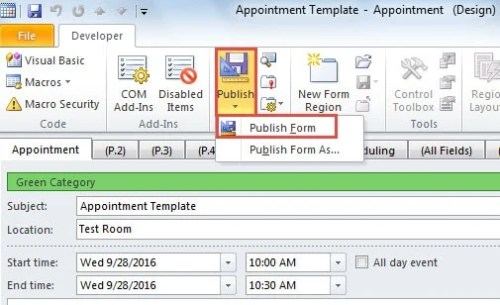 2 Ways to Create Appointment and Meeting Templates in Outlook - Data ...