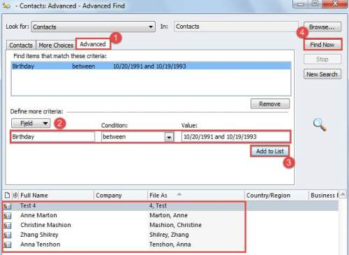 how to find contacts list in outlook express