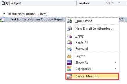 How to Delete a Meeting from Your Own Calendar without