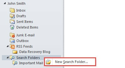 how to create new folder in outlook 2013