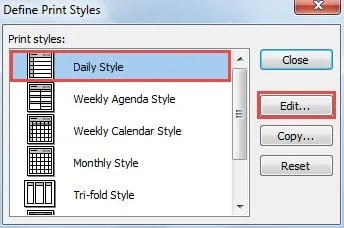 How to Print Outlook Calendar in a Specified Time Range