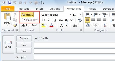 Plain Text format VS HTML format