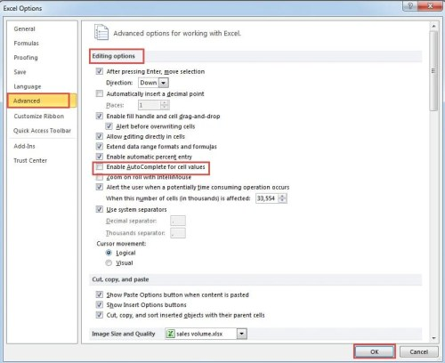 Why Excel AutoComplete Feature Stops Working for Some Cases
