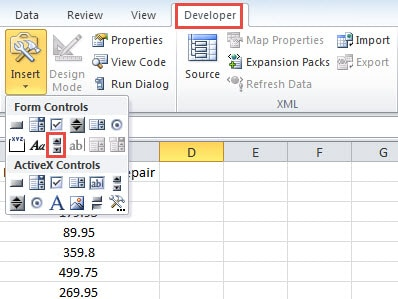 How to Embed a Scrollable Area inside Your Excel Worksheet