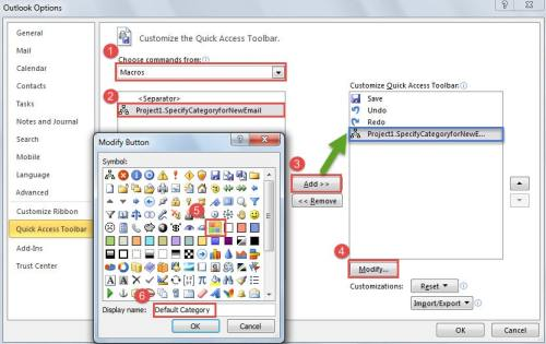 how to add pages to quick access