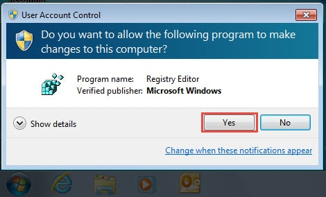 Allow Registry Editor to Make Changes on Your Computer