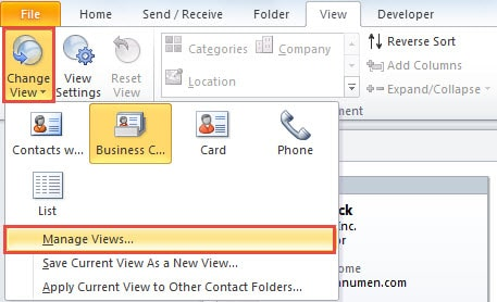 Manage View