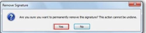 remove digital signature from pdf document