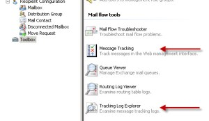 Exchange 2010 Message Tracking