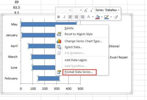 how to make 2 different colored data series