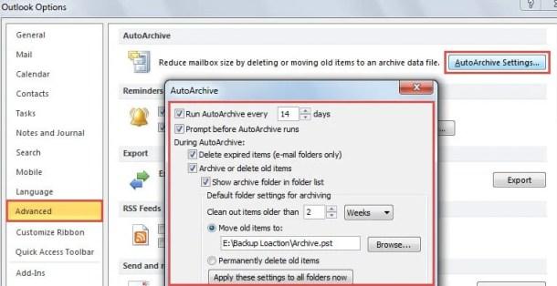 Auto Archive All Folders