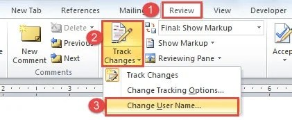 how to change comment author in excel