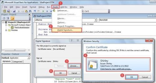 Outlook vba select attachment