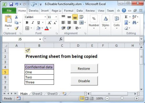 How to prevent your excel workbook from being moved or copied data build a worksheet with two buttons and a little data ibookread ePUb