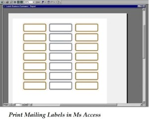 Print Mailing Labels In Ms Access
