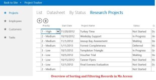 Sorting And Filtering Records In Ms Access