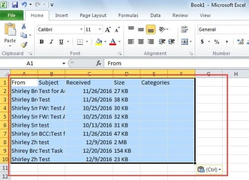 How to Batch Export Multiple Selected Outlook Emails to a Text/Excel